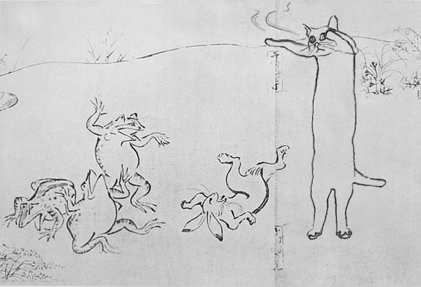 aincent longcat 3 -Longcat westles with rabbit. Frogs laugh out it.
